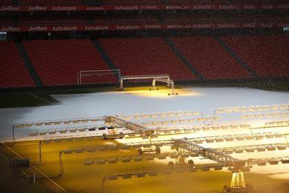San Mamés amanece nevado pero el Athletic-Valencia de esta noche se mantiene