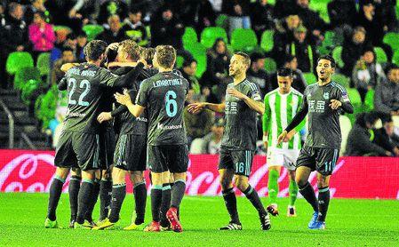 Imagen del último precedente en el estadio Benito Villamarín entre el Betis y la Real Sociedad.