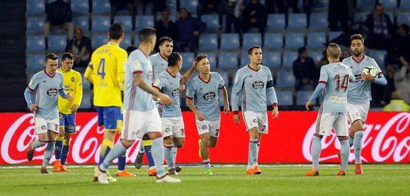 2-1. El Celta remonta ante Las Palmas y se asoma a los puestos europeos