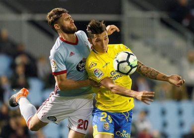 Sergi Gómez cumplió 100 partidos con el Celta en Primera ante Las Palmas