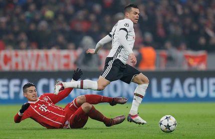 James en la convocatoria del Bayern para la vuelta contra el Besiktas