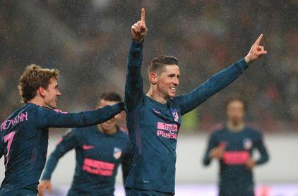 1-5. El Atlético se mete en cuartos con doblete de Torres