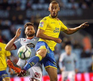 La UD Las Palmas viaja a La Coruña con 25 jugadores, incluido Gálvez