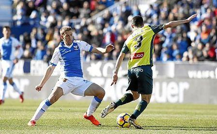 Brasanac, cedido por el Betis, no podrá ayudar al Leganés frente al Sevilla.