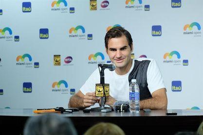 Federer dice que quiere venganza con Del Potro en la final de Miami