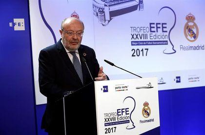García Casas destaca los éxitos deportivos y la labor social del Real Madrid