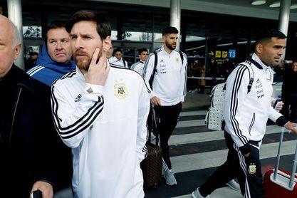 La selección argentina pone rumbo a Madrid