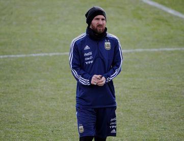 Messi se une al entrenamiento de Argentina en la Ciudad Deportiva del Real Madrid