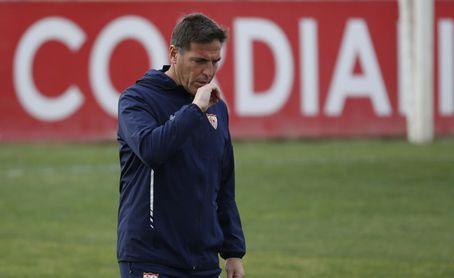 Berizzo en su etapa como entrenador del Sevilla.