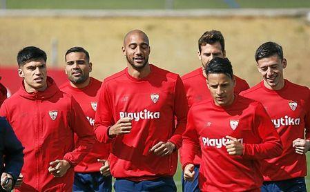 Imagen de un entrenamiento del Sevilla.