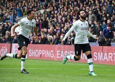 Salah remonta en Crystal Palace y coloca segundo al Liverpool