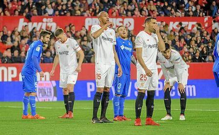 Imagen del partido entre el Sevilla y el Getafe en el Sánchez-Pizjuán.