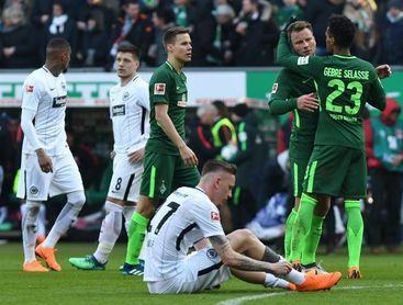 El Werder Bremen complica al Eintracht Fráncfort