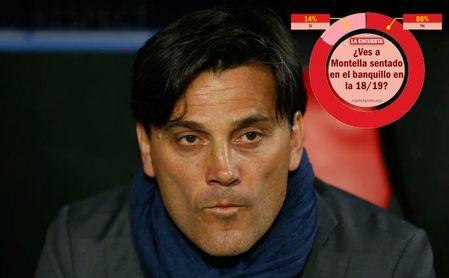 La afición no le ve futuro a Montella en el Sevilla.