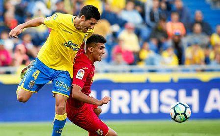 Vicente Gómez, en el partido ante el Villarreal.