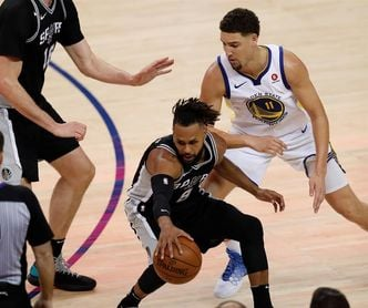 92-113. Exhibición de los Warriors ante los Spurs con Thompson de líder encestador