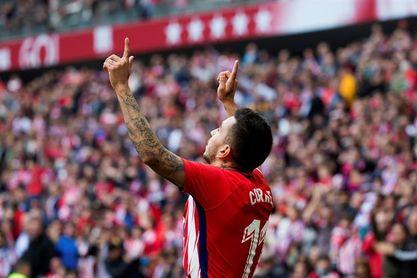 Correa adelanta al Atlético al descanso ante el Levante (1-0)
