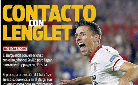Sport: Contacto Barça-Lenglet