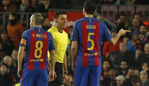 Partido de vuelta de octavos de final de la Copa del Rey entre Barcelona y Athletic (16-17).