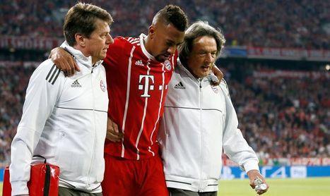Boateng se lesiona tras Robben