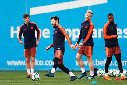 Los titulares realizan una sesión de recuperación tras golear al Villarreal