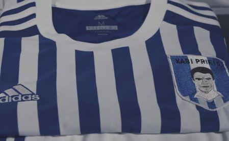 La Real sustituirá su escudo por una imagen de Xabi Prieto ante el Leganés