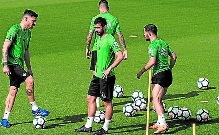 Amat, durante una sesión de entrenamiento de su equipo.