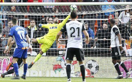 Pacheco, en el partido ante el Valencia.