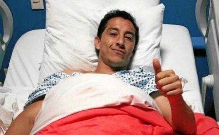 Andrés Guardado fue operado el pasado mes 17 de mayo del nervio perineal.