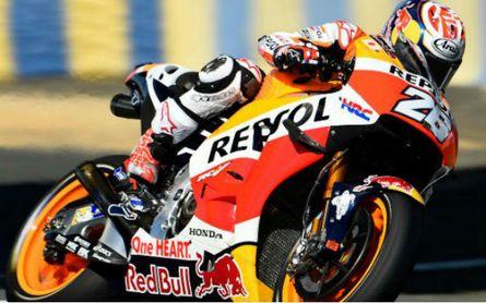 Dani Pedrosa durante una carrera con Honda.