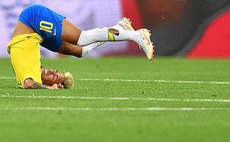 Neymar no jugó al cien por cien.