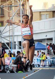 Ana Peleteiro, tercera en triple salto con 14,32