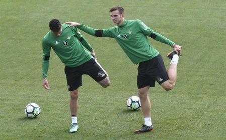 Fabián en un entreno con el Real Betis.