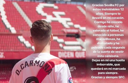 Carmona se despide del Sevilla