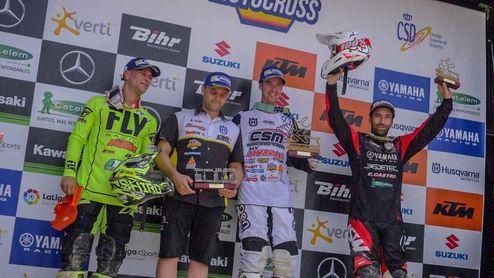 Los ganadores de la última prueba del Campeonato de España de Motocross.