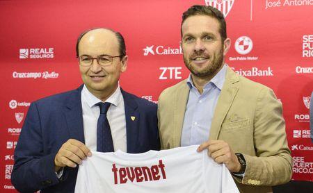 Luis García Tevenet, durante su presentación como técnico del Sevilla Atlético.