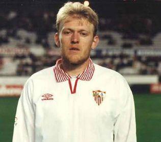 Prosinecki durante el año que pasó en Sevilla.