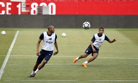 Nzonzi y Muriel en un entrenamiento.