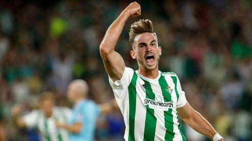 Fabián celebra un gol esta temporada.