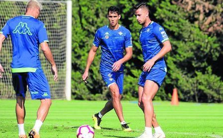 Mandi, Joaquín y León en un entrenamiento.