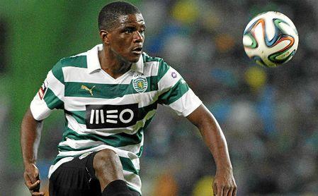 William Carvalho, en un partido con el Sporting.