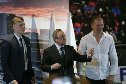 Lunin se muestra comprometido en su presentación con el Real Madrid