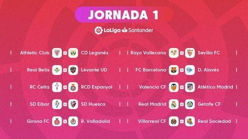 La primera jornada de LaLiga 18/19.