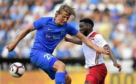 Berge, en el partido de la Q2 de la Europa League ante el Fola Esch.