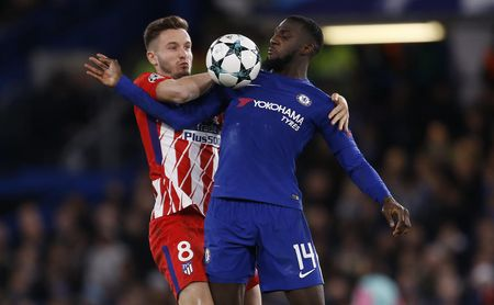 Bakayoko, jugador del Chelsea, durante un partido frente al Atlético de Madrid.