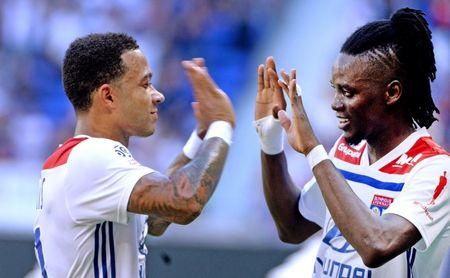 Imagen de la primera victoria en liga del Olympique de Lyon.