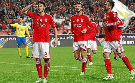 Pizzi celebra uno de sus tres goles con los que ha comenzado al Liga NOS.