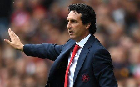 Unai Emery, durante su debut con el Arsenal.