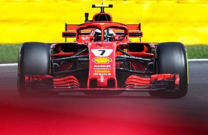 Raikkonen (Ferrari) lidera la segunda sesión de entrenamientos en Bélgica