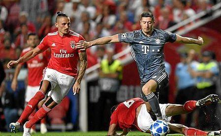 Imagen del Benfica-Bayern.